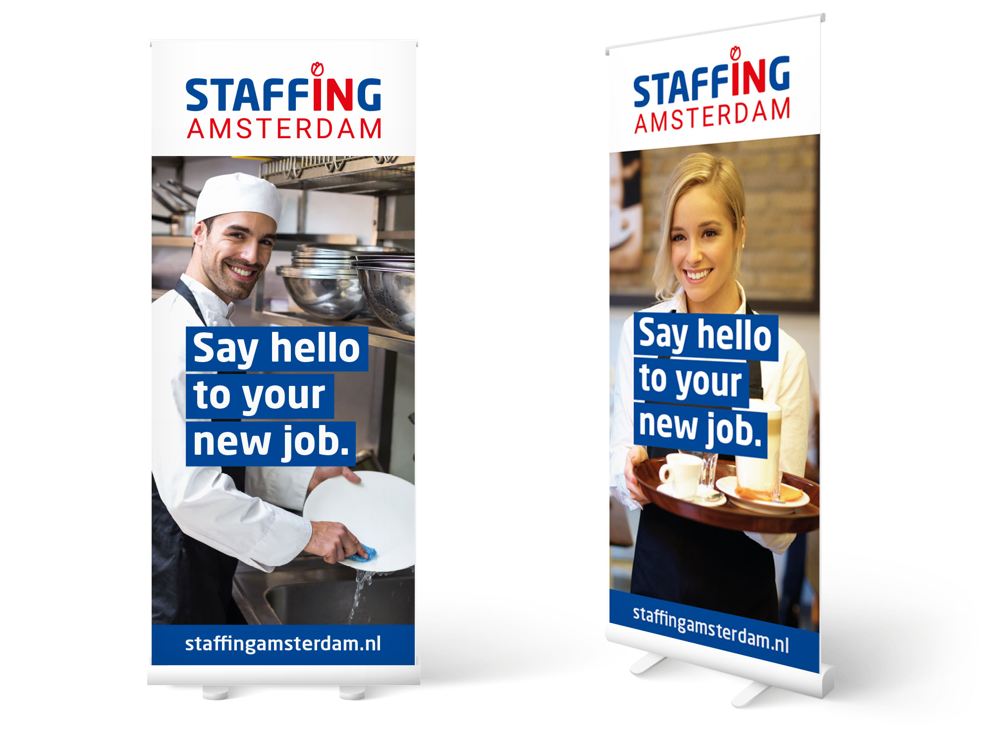 rollup banners Staffing Amsterdam