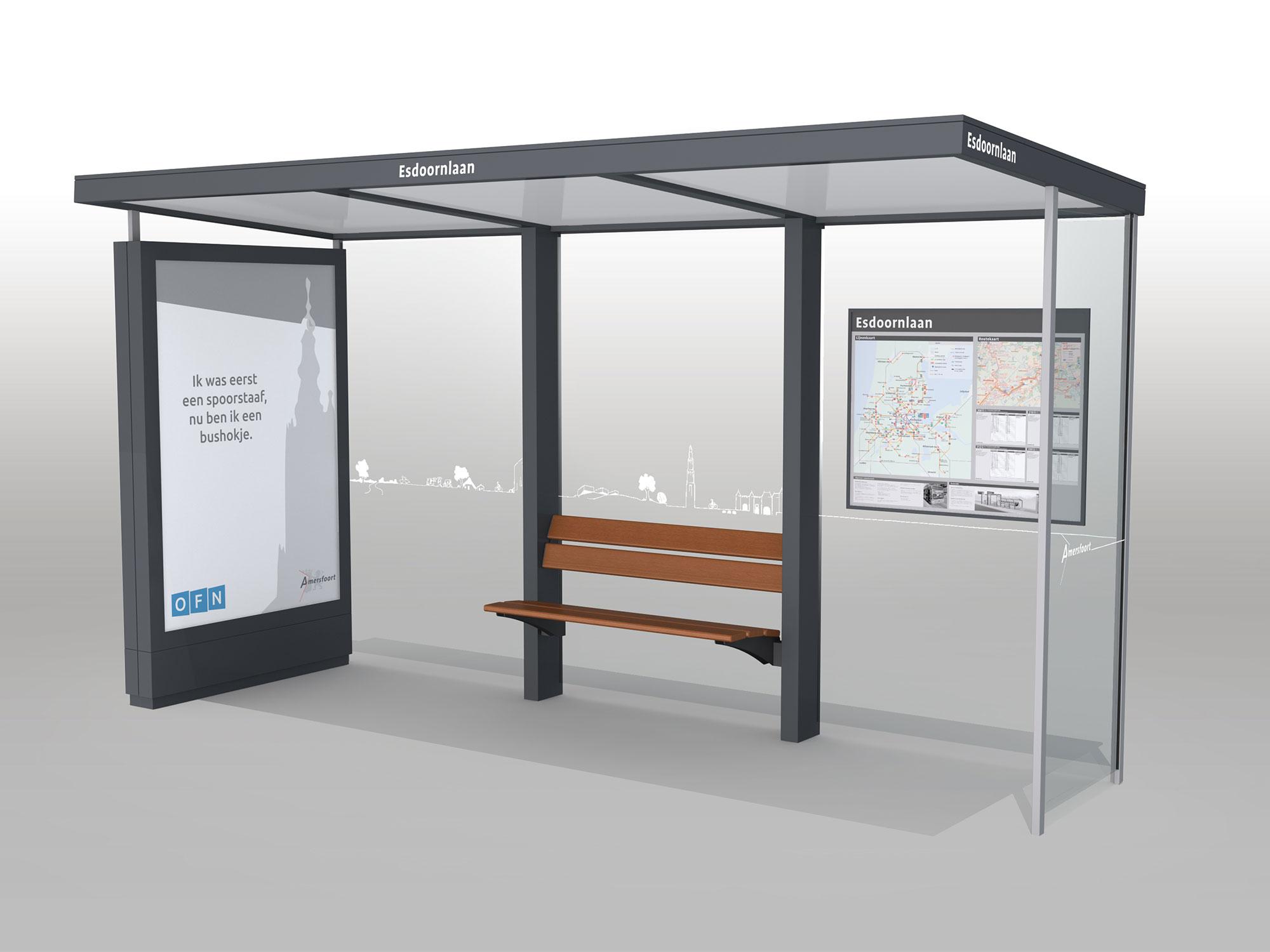 design bushokjes gemeente Amersfoort