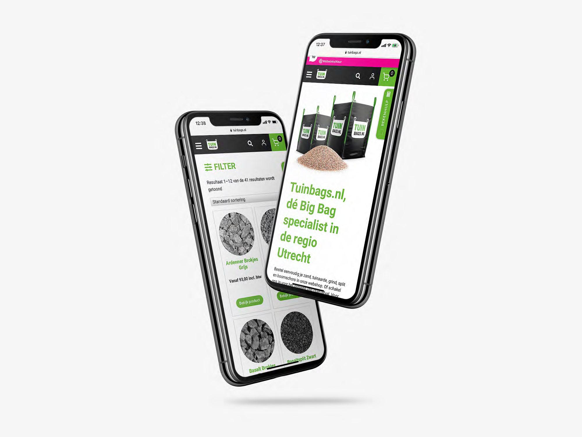mobile webshop wordpress reclamebureau regio barneveld