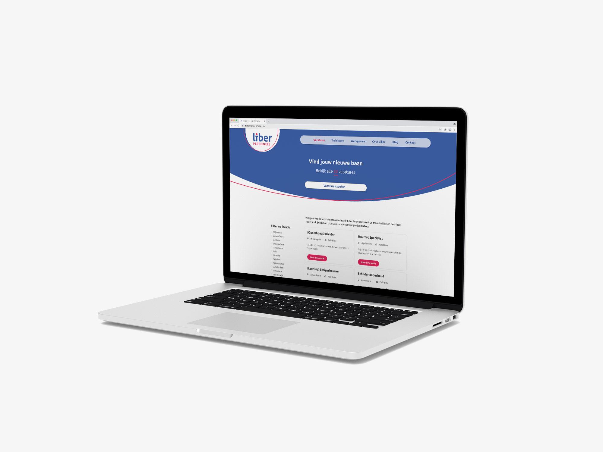 ontwerp wordpress website uitzendbureau Liber Voorthuizen