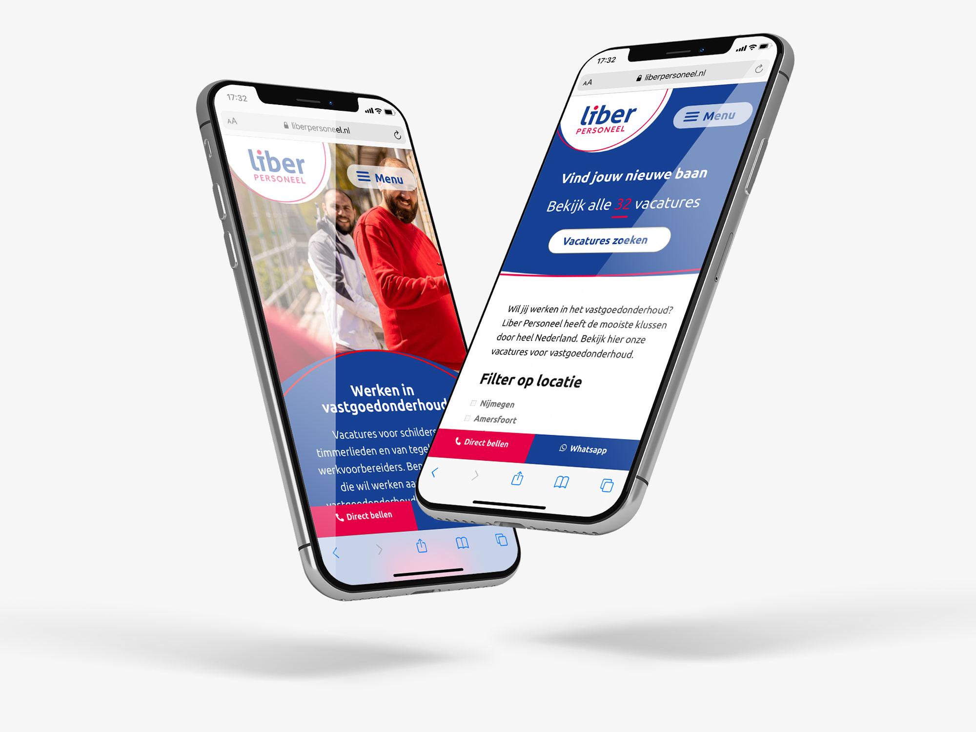 Branding en website ontwerp – Liber Personeel