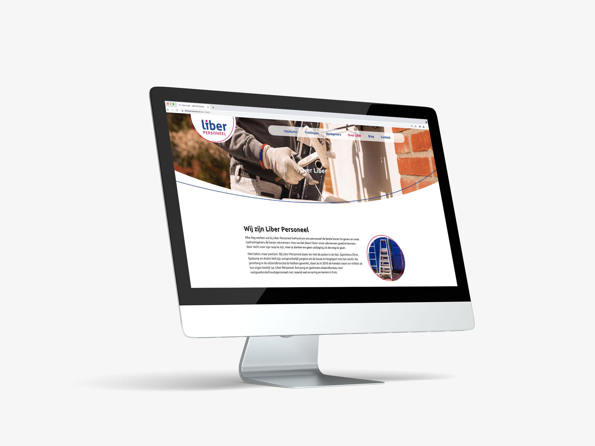 wordpress website uitzendbureau Liber Barneveld