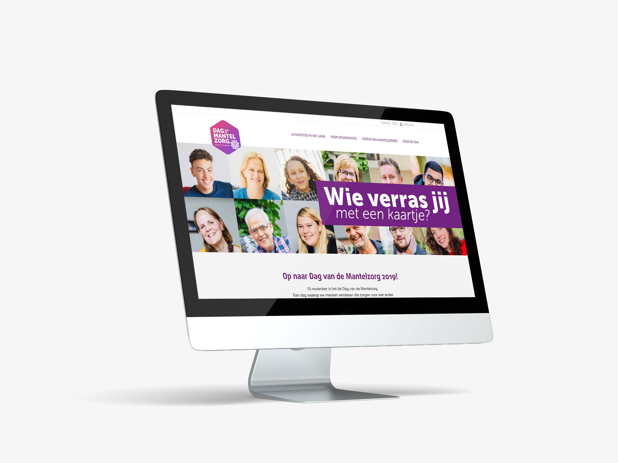 ontwerp website Dag van de mantelzorg 2019