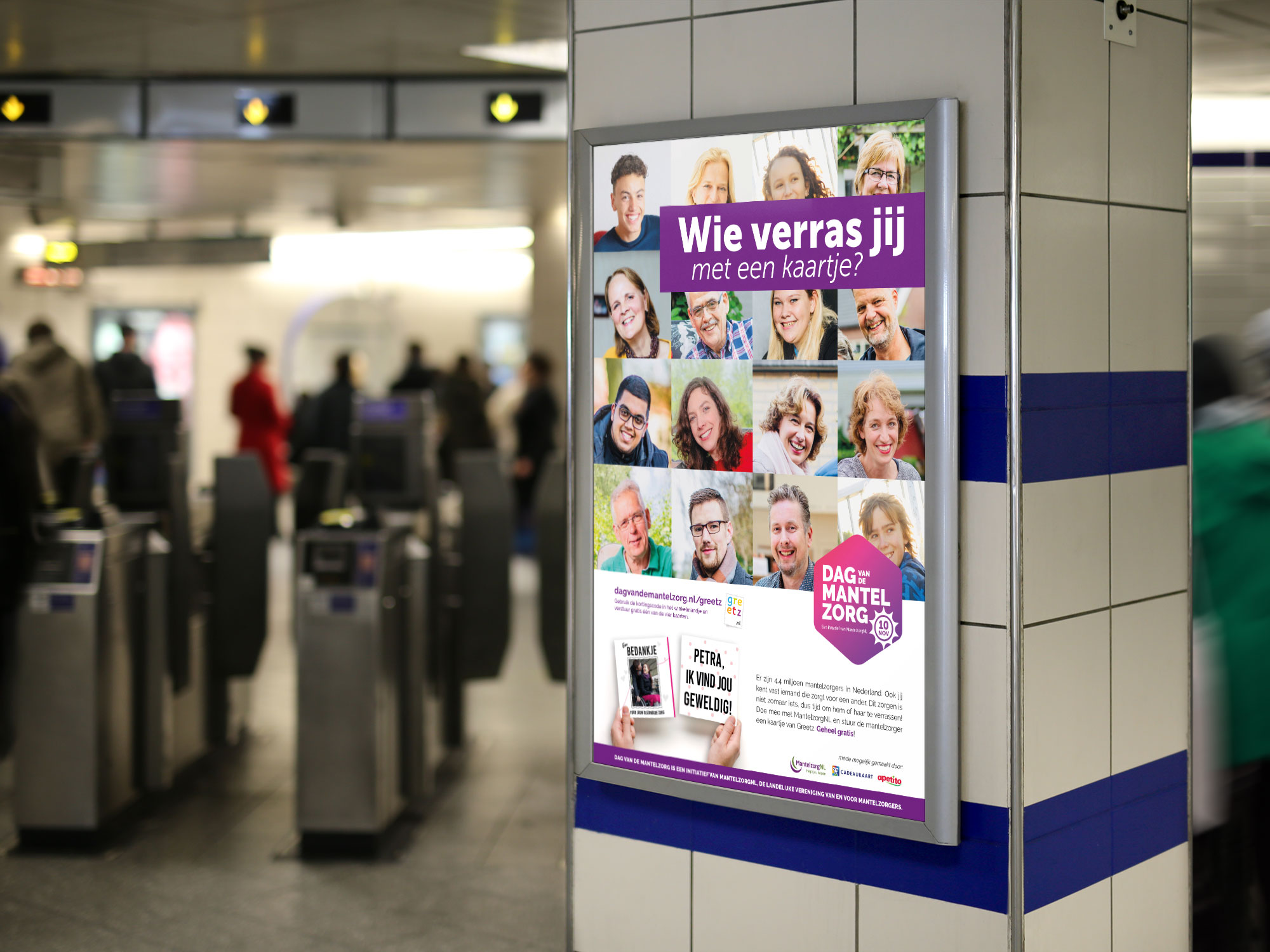 Poster Dag van de Mantelzorg ansichtkaart Greetz