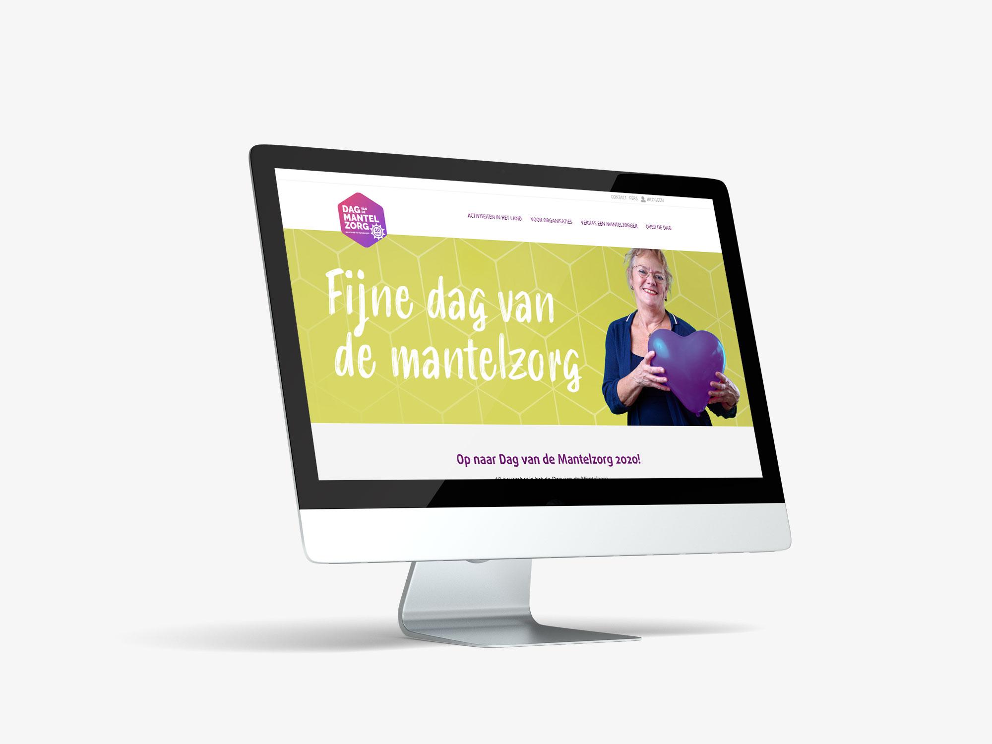 Ontwerp website Dag van de Mantelzorg 2020