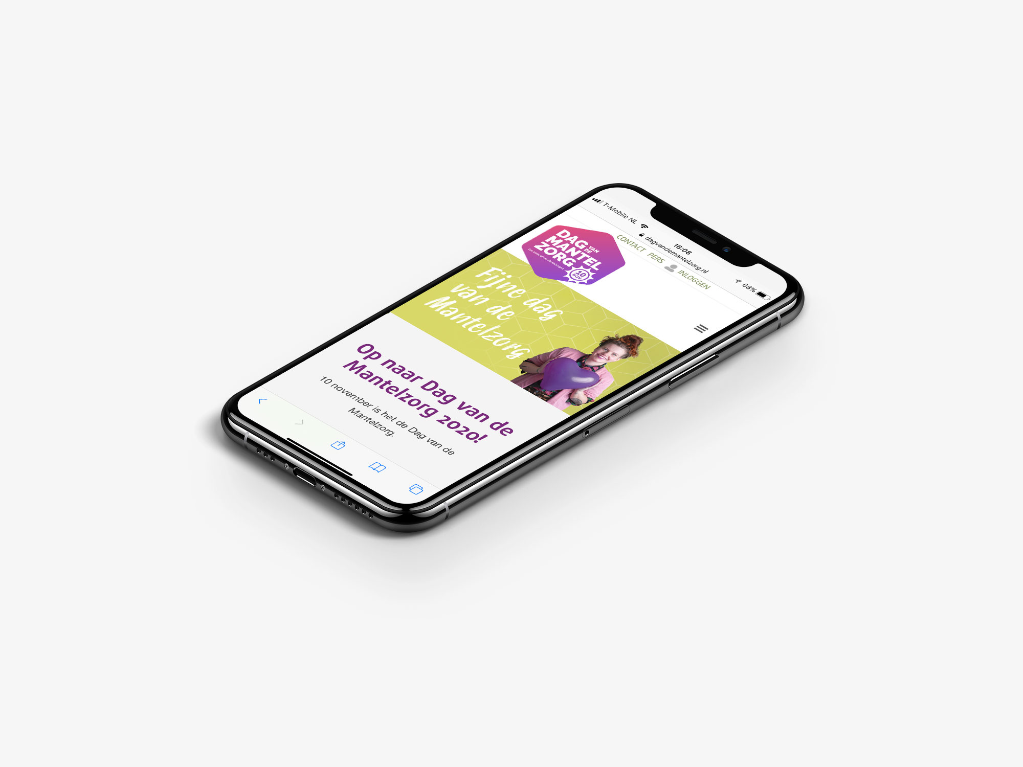 mobile wordpress website ontwerp Dag van de Mantelzorg