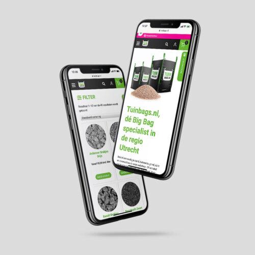 ontwerp webshop tuinbags