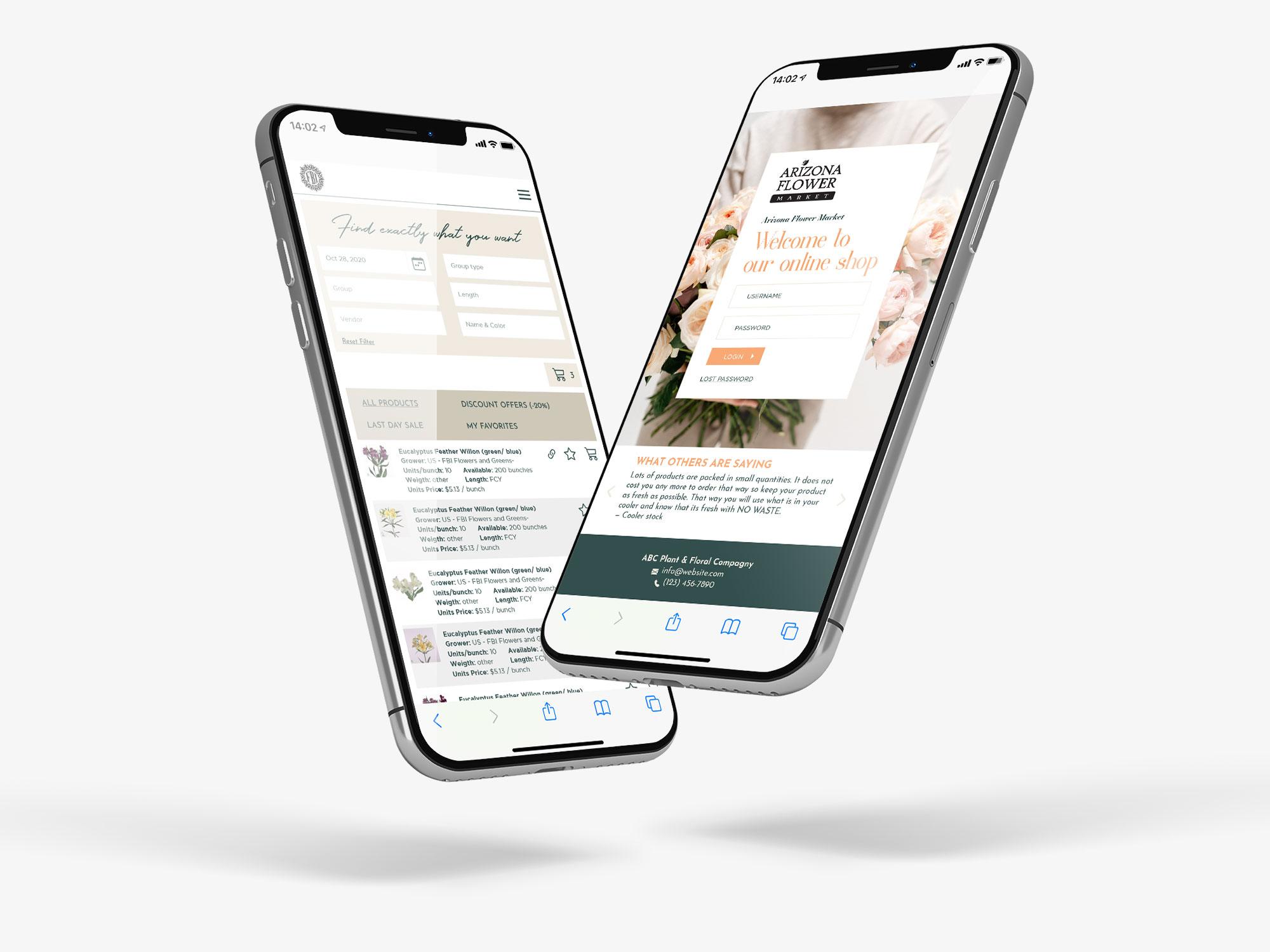 Webshop ontwerp – Bloemenveiling Florist Retail Direct