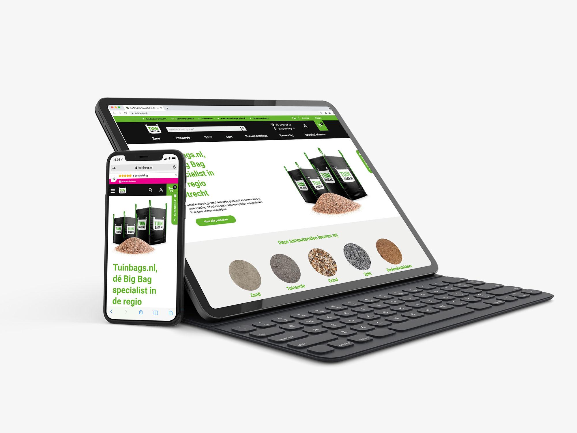 Branding en webshop ontwerp – TUINBAGS.NL
