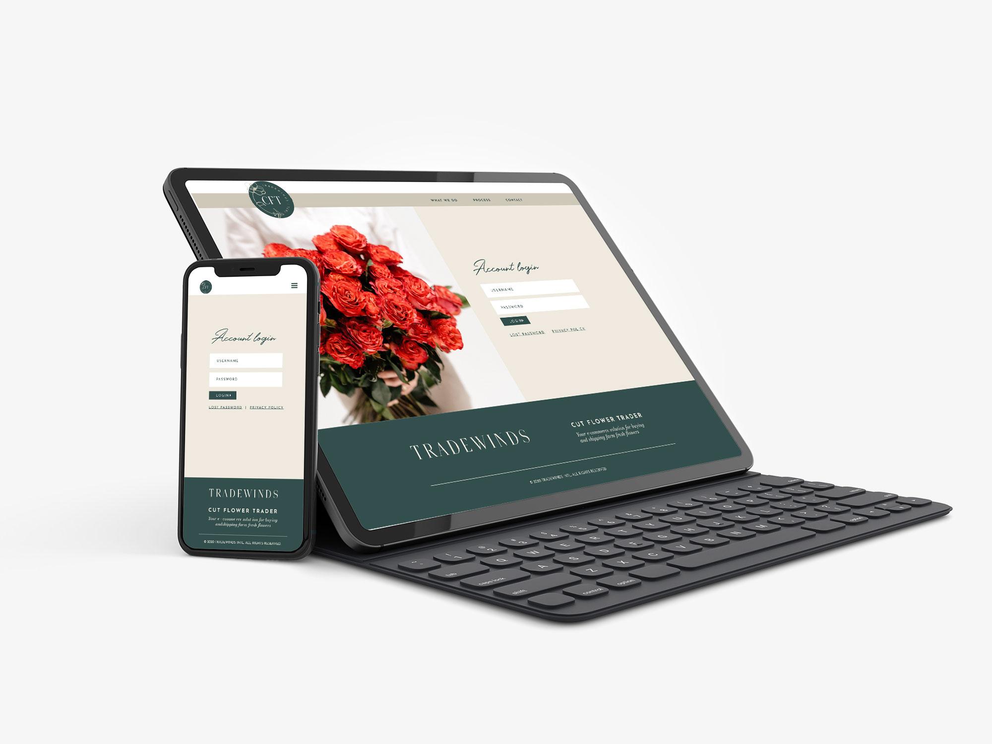 Ontwerp webshop – Bloemenveiling Cut Flower Trader
