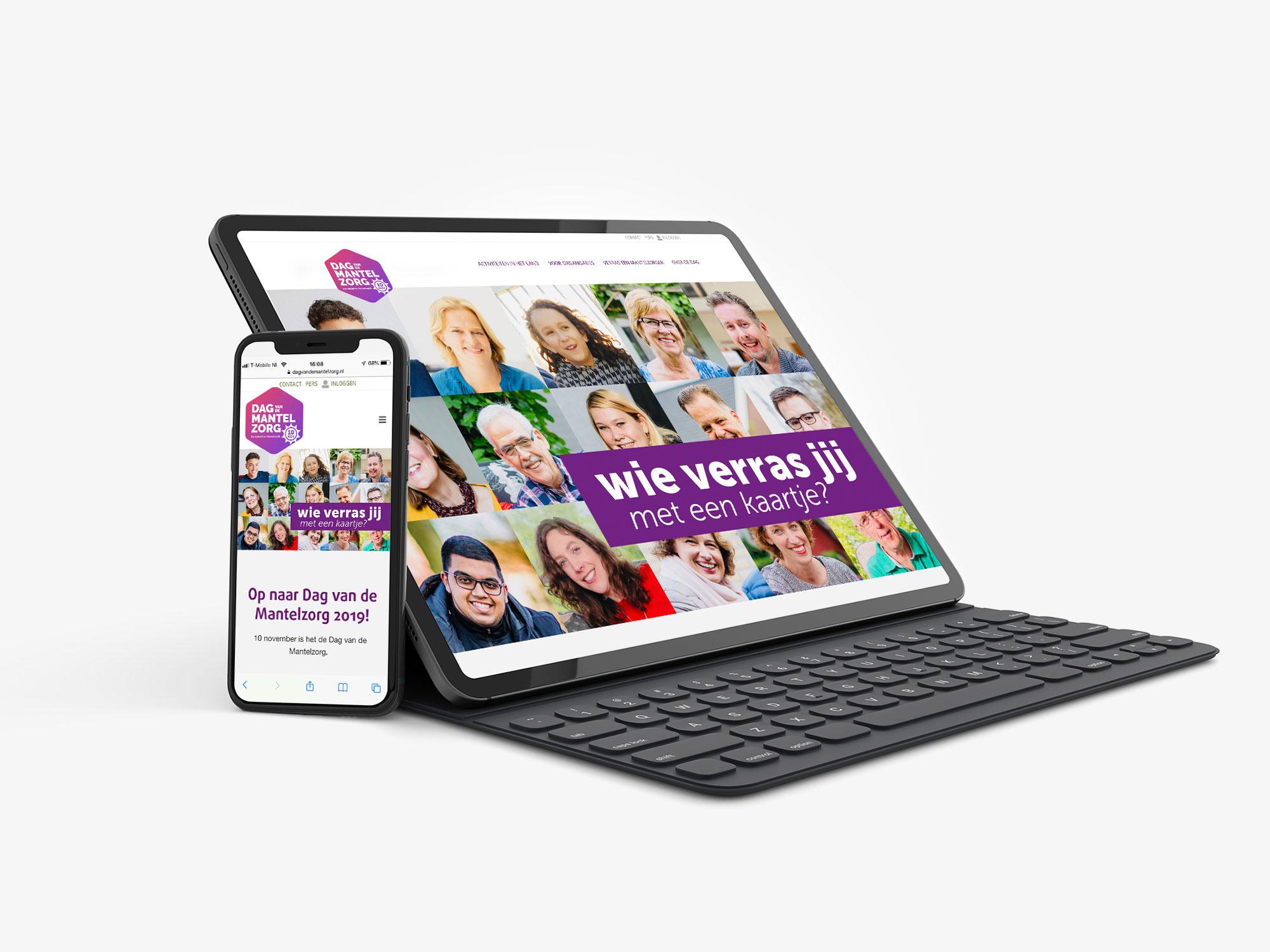 website ontwerp Dag van de Mantelzorg social media