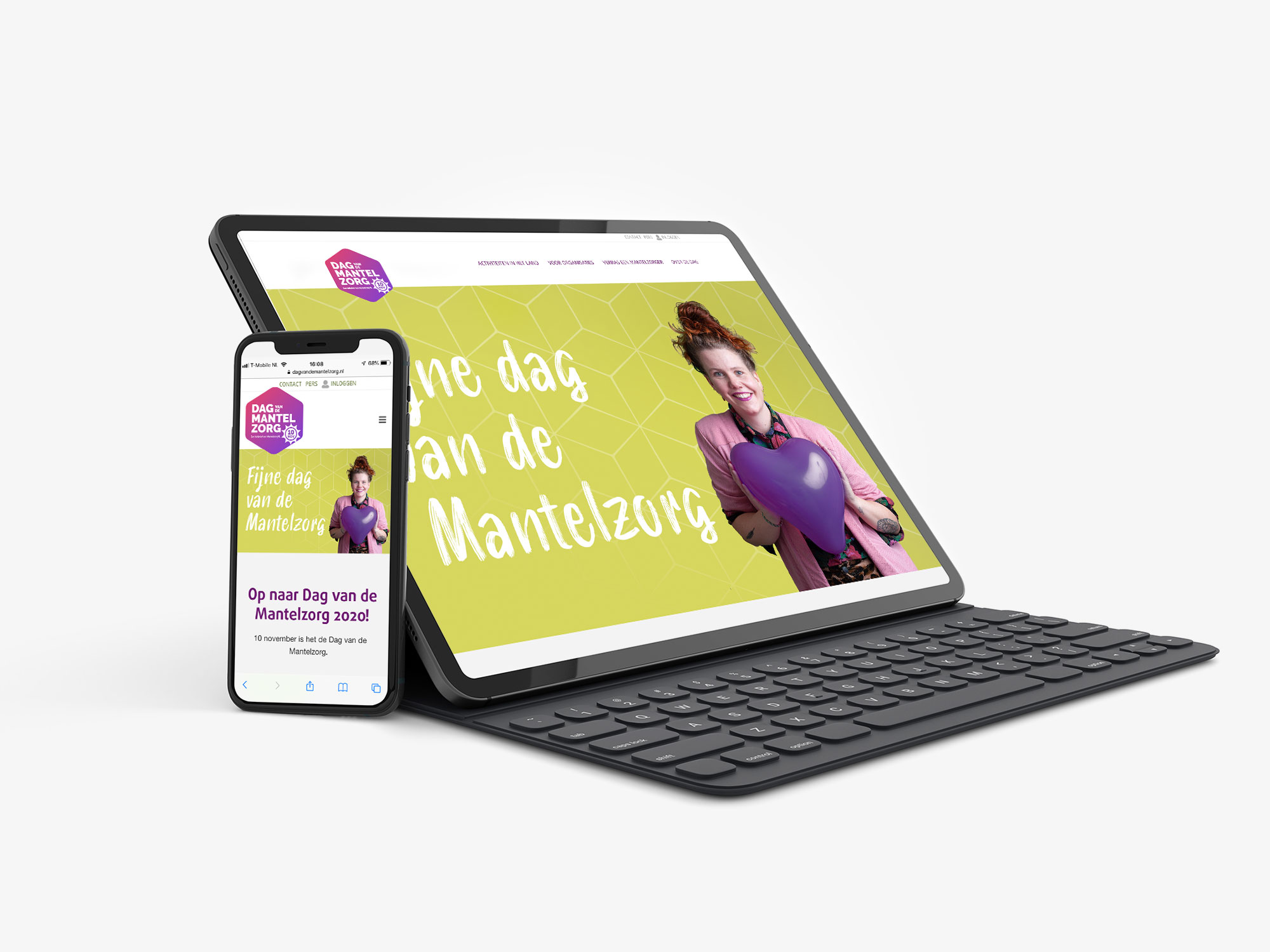 ontwerp campagne wordpress website Dag van de Mantelzorg